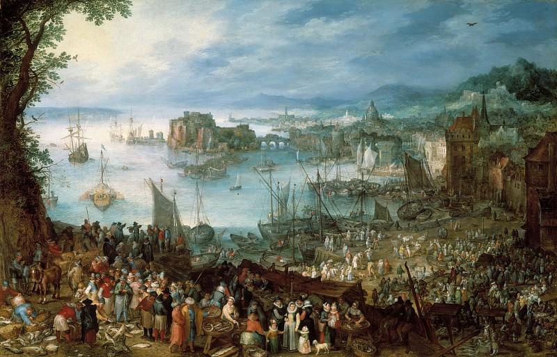 Great Fish Market. Jan Brueghel The Elder