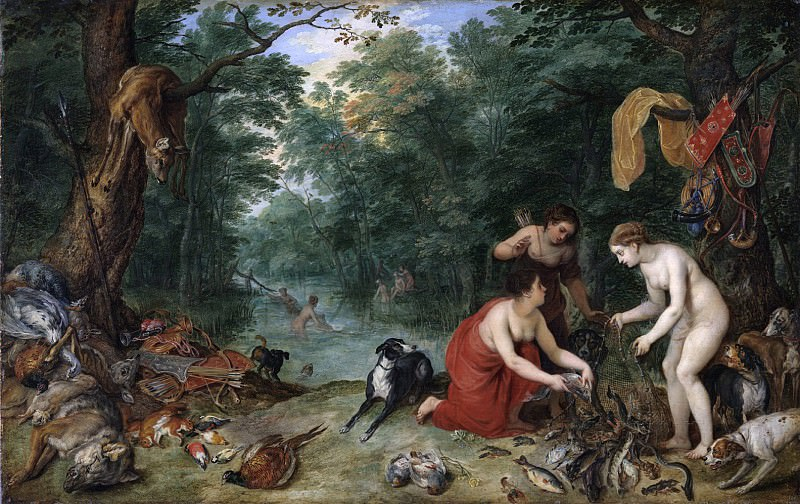Fish nymphs. Jan Brueghel The Elder
