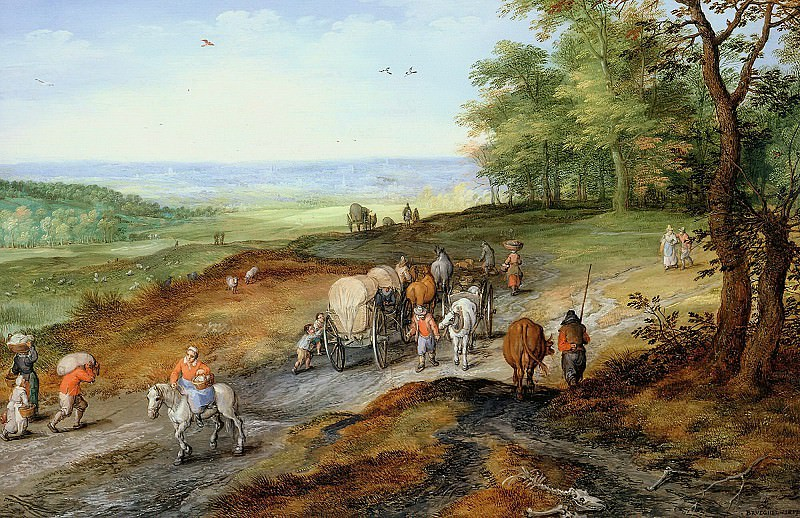 Returning from the market. Jan Brueghel The Elder