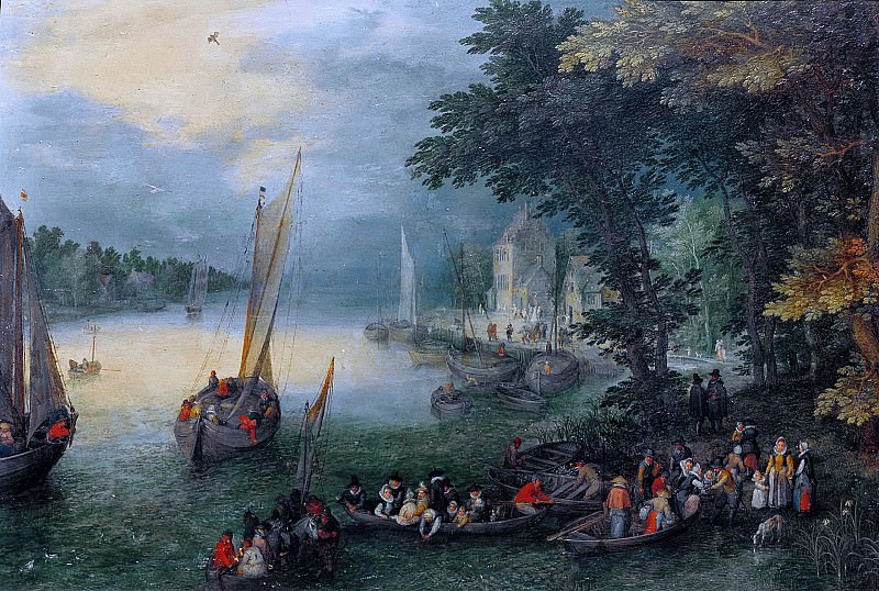 River Landscape. Jan Brueghel The Elder