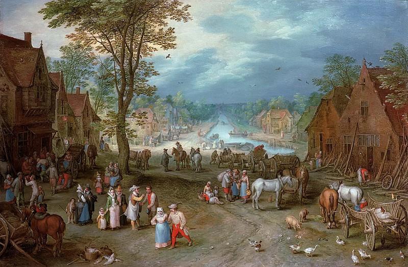 Village Street with Canal. Jan Brueghel The Elder