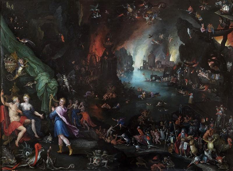 Orpheus Sings for Pluto and Proserpina. Jan Brueghel The Elder
