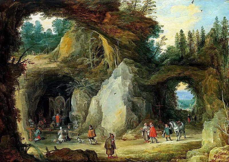 Mountain Landscape with Pilgrims. Jan Brueghel The Elder