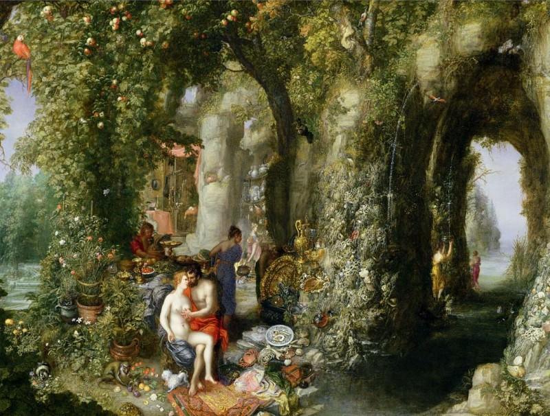 Feast of the Nymph Calypso for Odysseus. Jan Brueghel The Elder