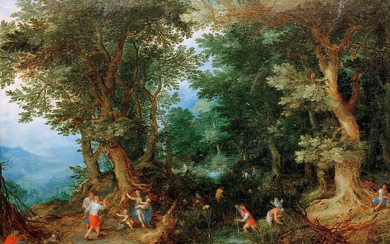 Latona and the Lycian Farmers. Jan Brueghel The Elder