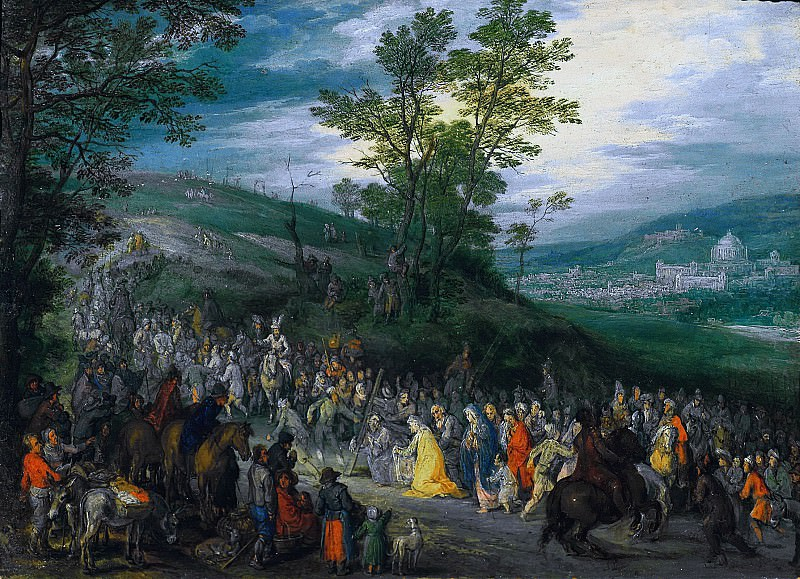 The Way to the Hill of Calvary. Jan Brueghel The Elder