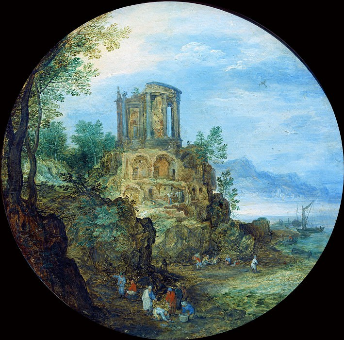 Temple of Vesta. Jan Brueghel The Elder