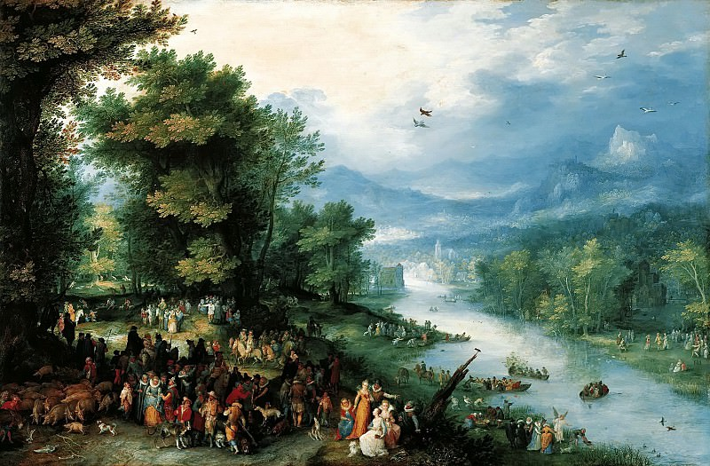 Landscape with Tobias and the Angel. Jan Brueghel The Elder