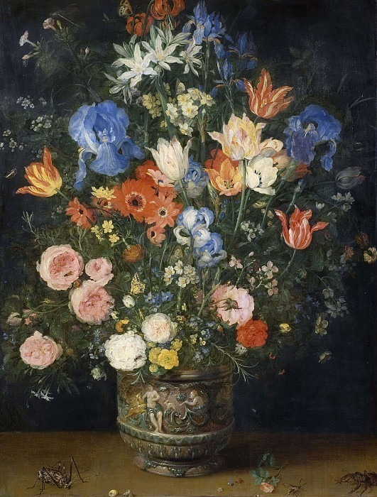 Still Life with Flowers and Insects. Jan Brueghel The Elder