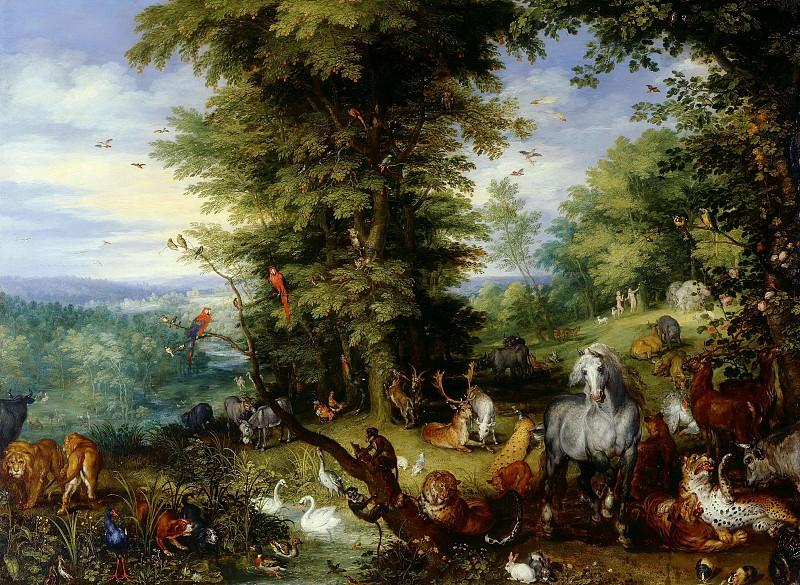 Adam and Eve in the Garden of Eden. Jan Brueghel The Elder