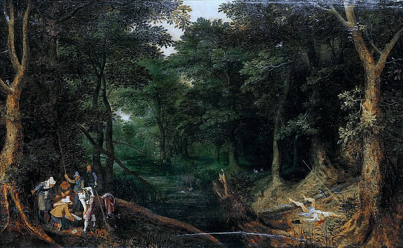 Attack in the Forest. Jan Brueghel The Elder