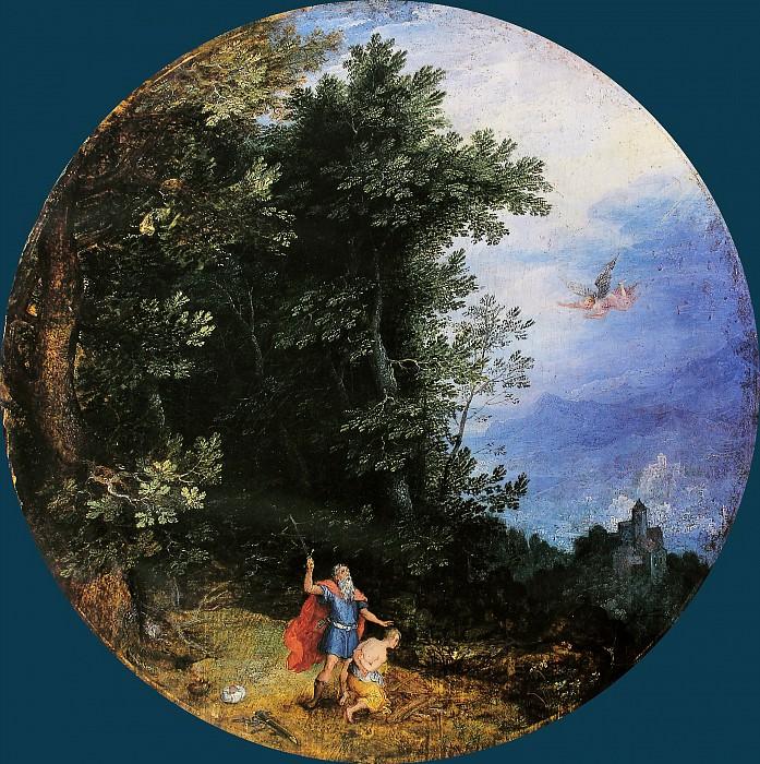 Sacrifice of Isaac. Jan Brueghel The Elder