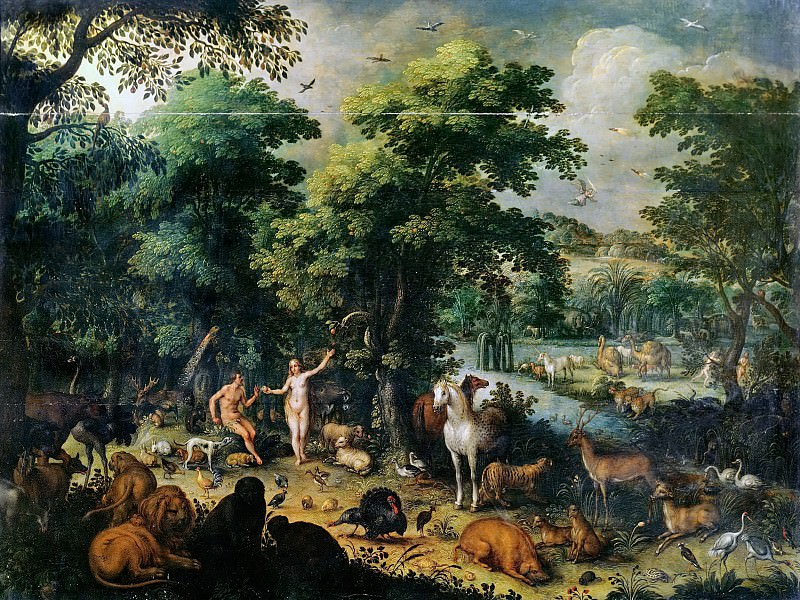 Earthly Paradise. Jan Brueghel The Elder