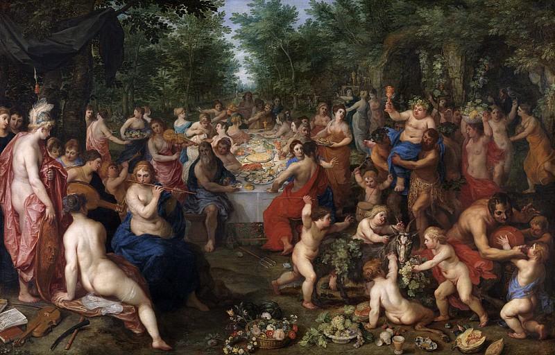 Feast of the Olympian gods. Jan Brueghel The Elder