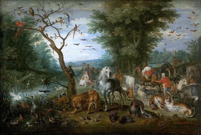 Noah collecting animals for the ark. Jan Brueghel The Elder
