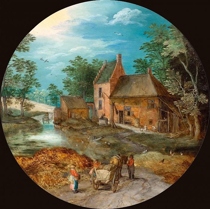A farmhouse by a stream. Jan Brueghel The Elder