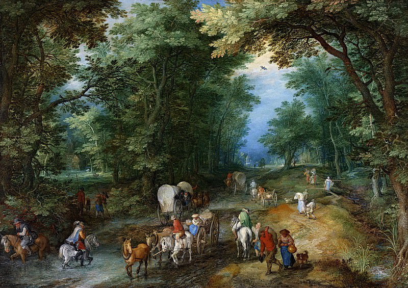 Busy Forest Track. Jan Brueghel The Elder