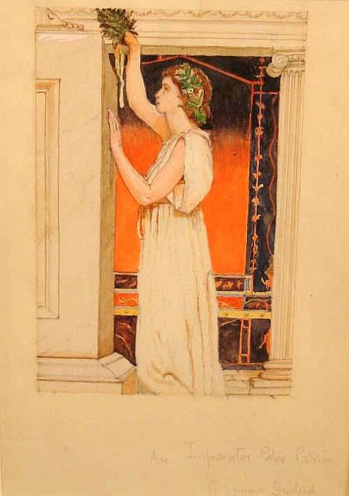 Classical Study, at the temple gate. George Lawrence Bulleid
