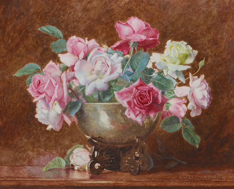 Still life of roses. George Lawrence Bulleid