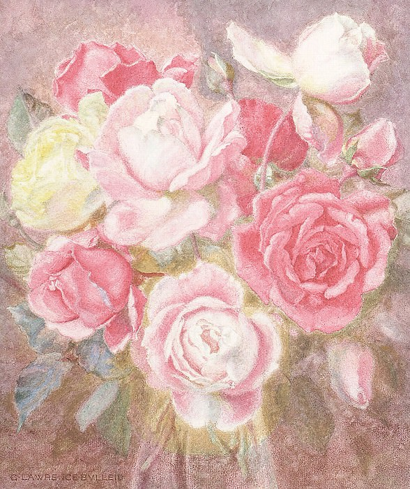 A still life of Roses. George Lawrence Bulleid