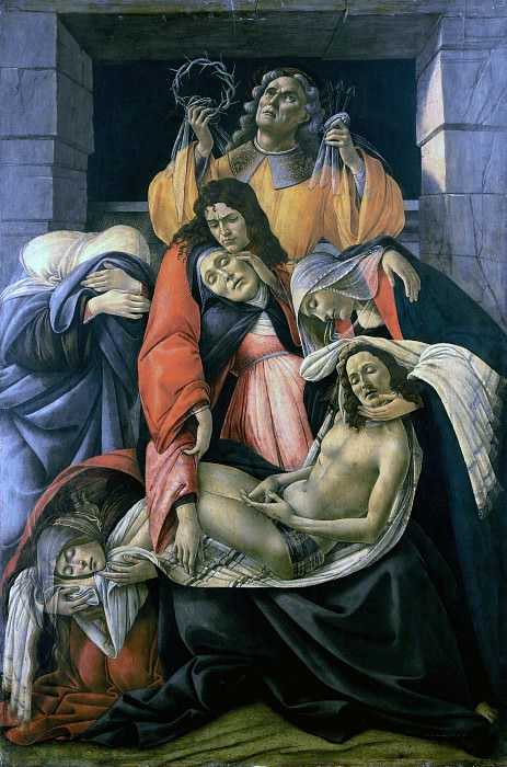 Lamentation over the Dead Christ. Alessandro Botticelli