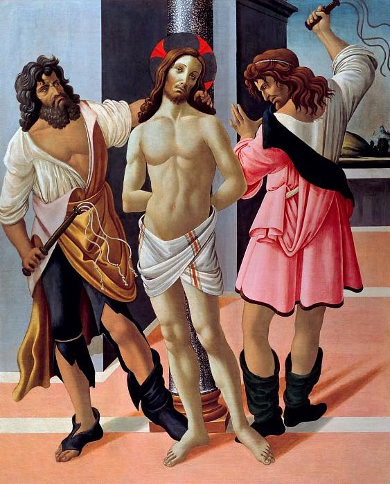 Бичевание Христа (мастерская). Сандро Боттичелли