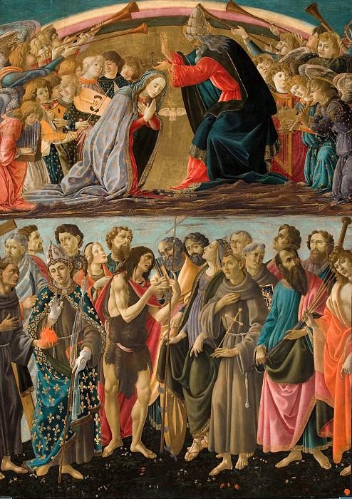Coronation of the Virgin with Saints (workshop). Alessandro Botticelli
