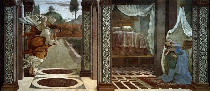 Annunciation. Alessandro Botticelli