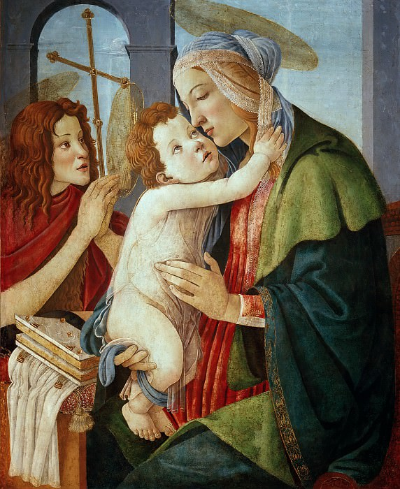 Madonna and Child with Saint John the Baptist (workshop). Alessandro Botticelli