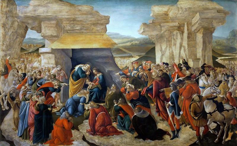 Поклонение волхвов. Сандро Боттичелли