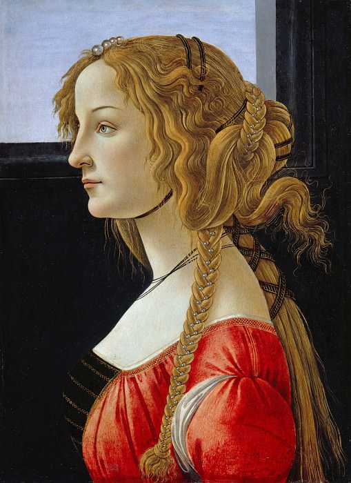 Portrait of an young woman (Simonetta Vespucci?). Alessandro Botticelli