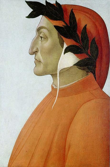 Portrait of Dante. Alessandro Botticelli
