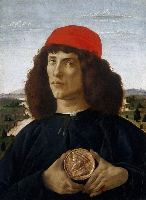 Portrait of a Man with a Medal of Cosimo the Elder. Alessandro Botticelli