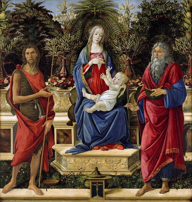 Мадонна с Mладенцем на троне. Сандро Боттичелли