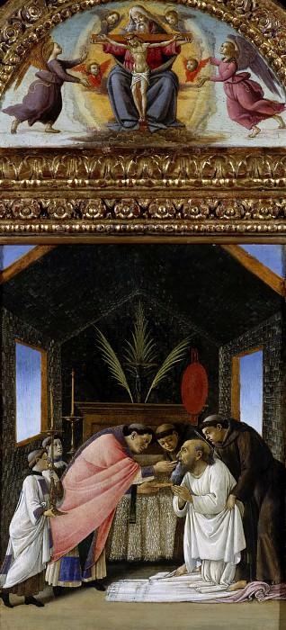 Последнее причастие святого Иеронима. Сандро Боттичелли