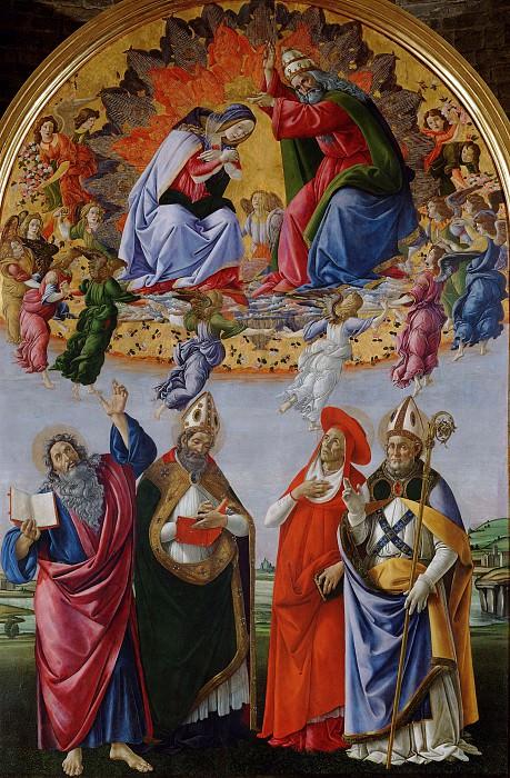 Коронование Девы Марии. Сандро Боттичелли