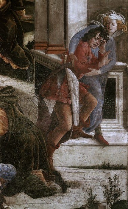 Scenes from the Life of Moses, detail. Alessandro Botticelli