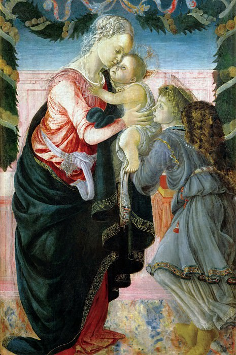 Virgin and Child Supported by an Angel. Alessandro Botticelli