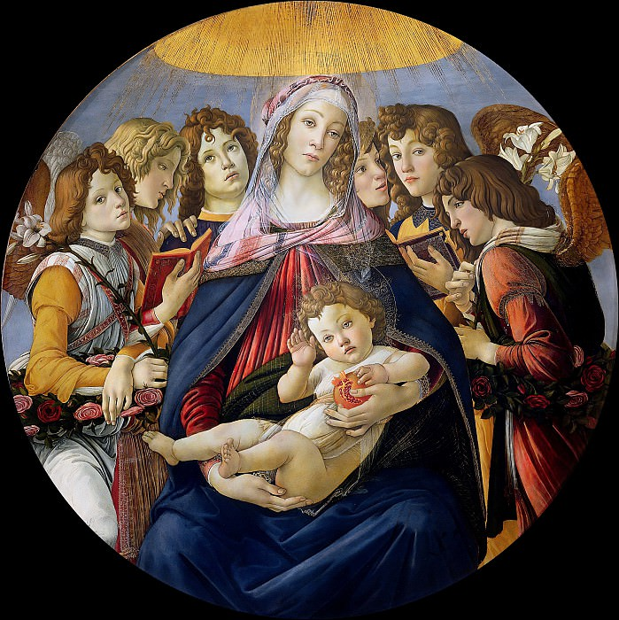 Madonna of the Pomegranate. Alessandro Botticelli