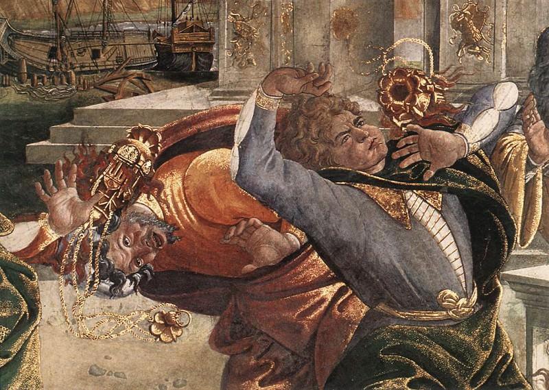 The Punishment of Korah detail. Alessandro Botticelli