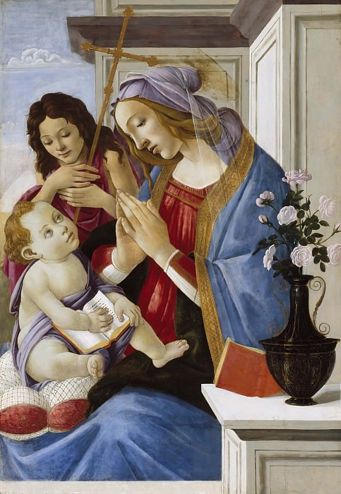 Madonna and Child with Saint John the Baptist. Alessandro Botticelli