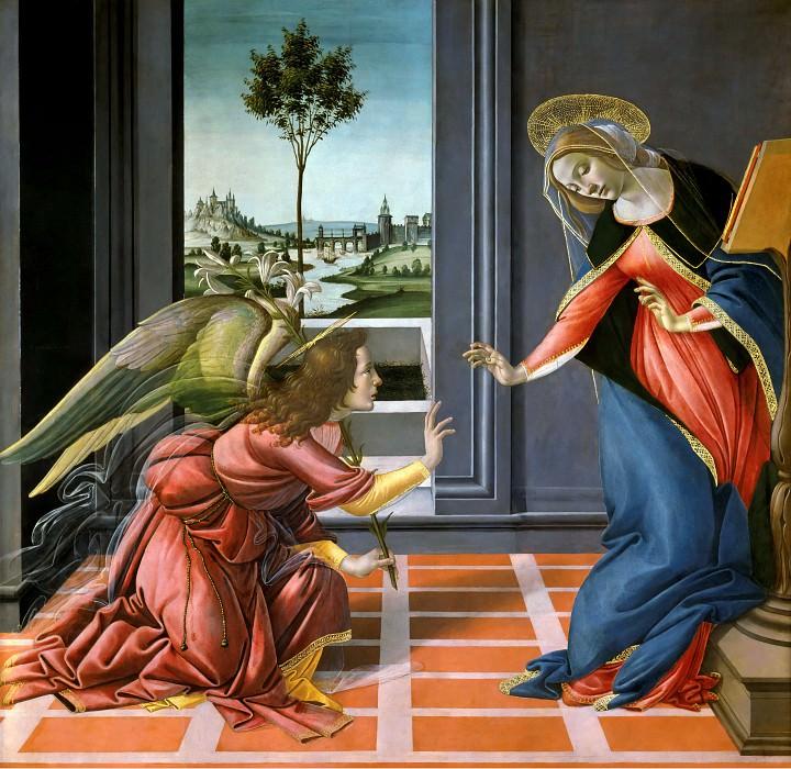 The Annunciation. Alessandro Botticelli