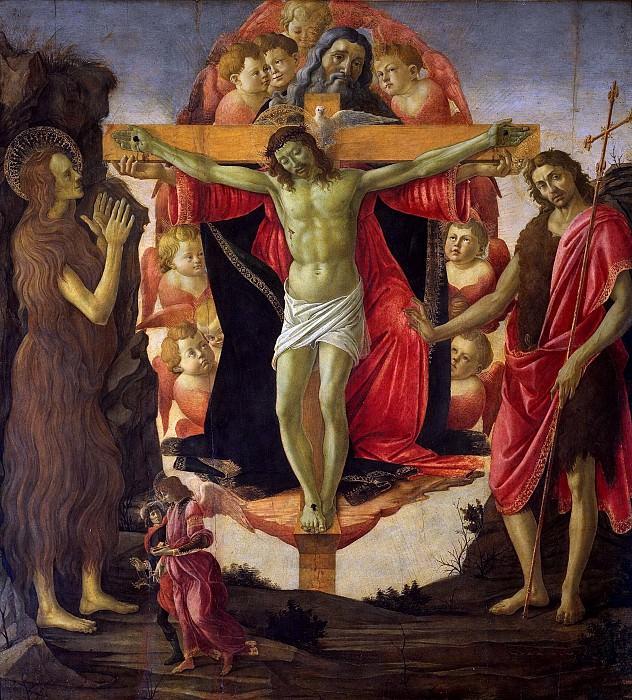 The altar of the Holy Trinity. Alessandro Botticelli