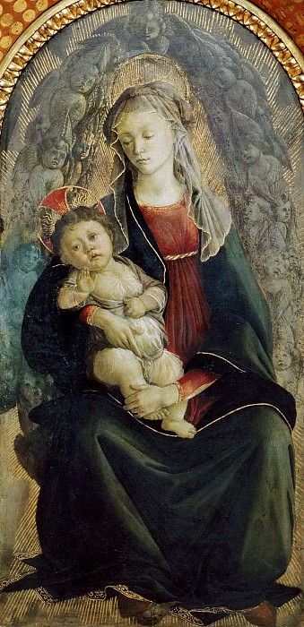 Madonna in Glory with Seraphim. Alessandro Botticelli