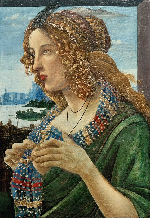 Allegorical Portrait of a Woman (Simonetta Vespucci?) (workshop). Alessandro Botticelli