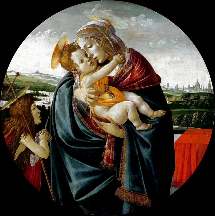 Virgin and Child with Saint John the Baptist. Alessandro Botticelli