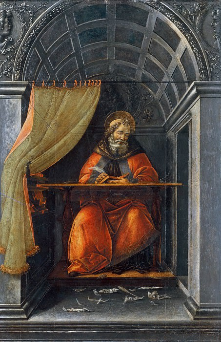 Saint Augustine in the Cell. Alessandro Botticelli