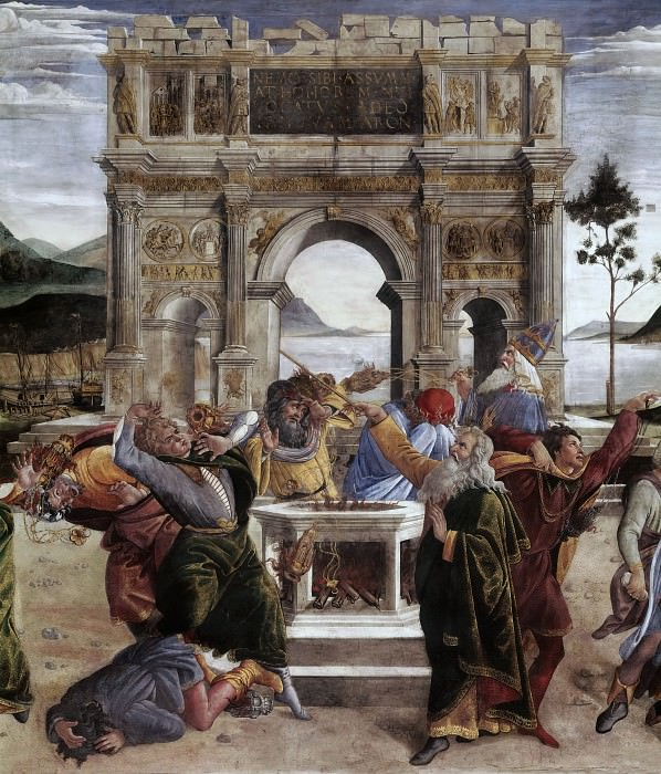 The Punishment of Korah, detail. Alessandro Botticelli