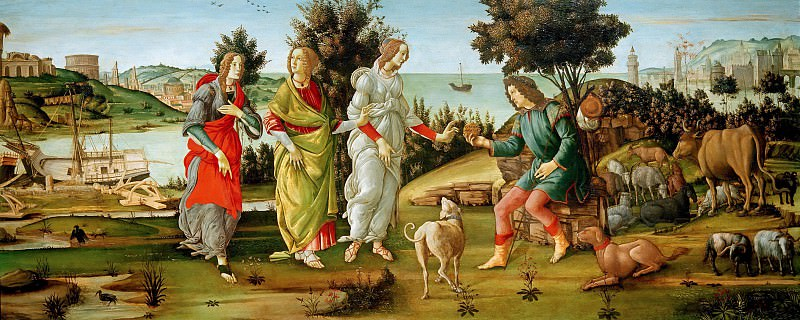 The Judgment of Paris (Botticelli and his workshop). Alessandro Botticelli