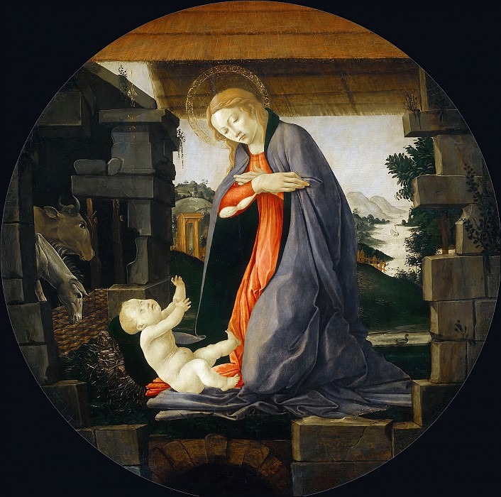 The Virgin Adoring the Child. Alessandro Botticelli